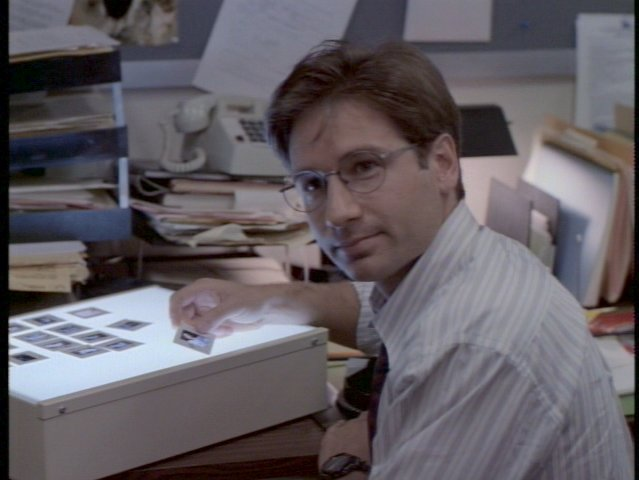 Mulder curating a slide show