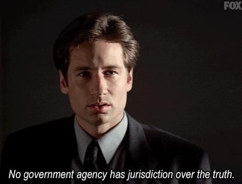 Mulder doesn't believe in alt-facts